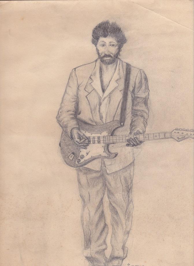 Eric Clapton in pencil